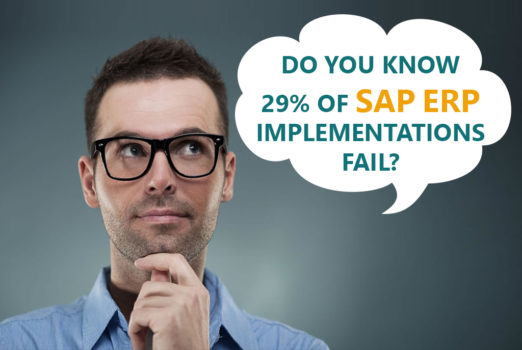 Do you know 29% of SAP ERP implementations fail?