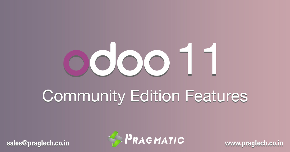 Odoo 11 Community Edition Features