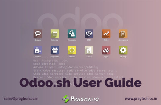 Odoo.sh – Design, Develop, Deploy and Monitor your Odoo Applications in the cloud