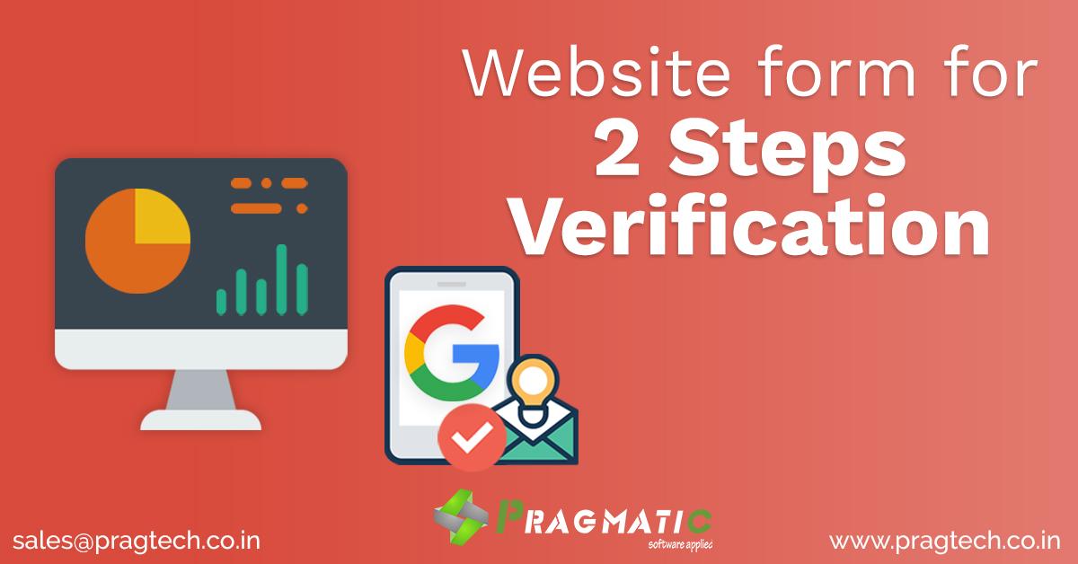 Website form for 2 Steps Verification