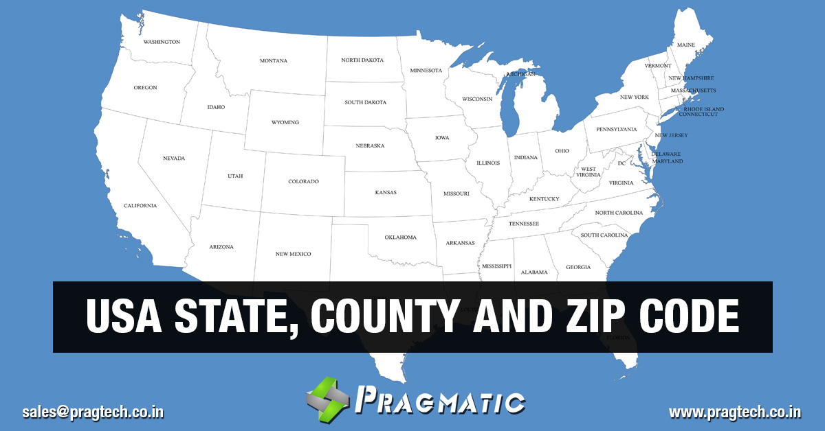 USA States, County and Zip Codes Odoo App