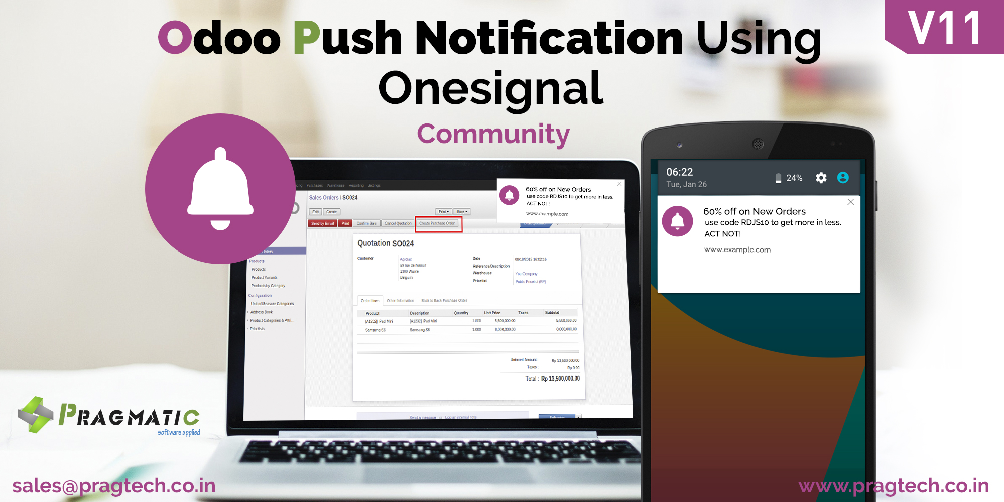 Odoo Push Notification Using Onesignal