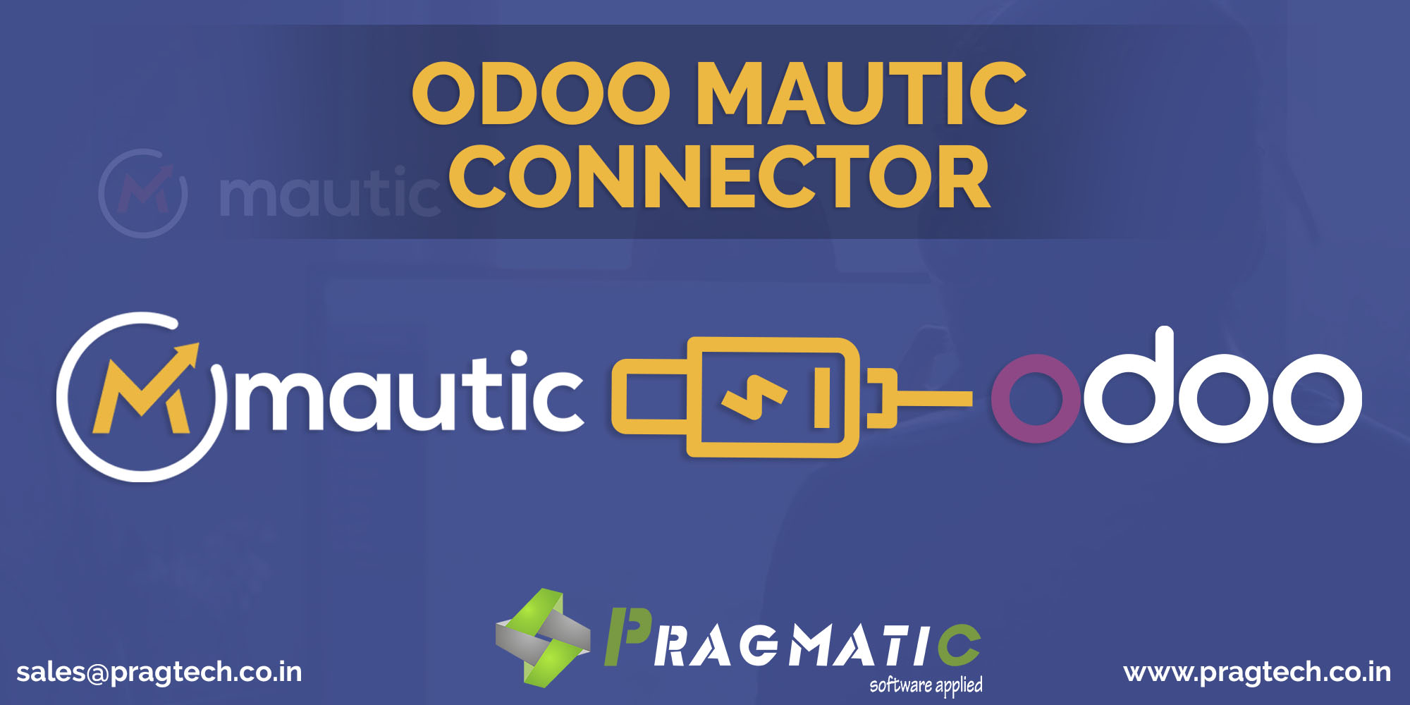 Leverage the strengths of 2 industry leading enterprise softwares Mautic and Odoo