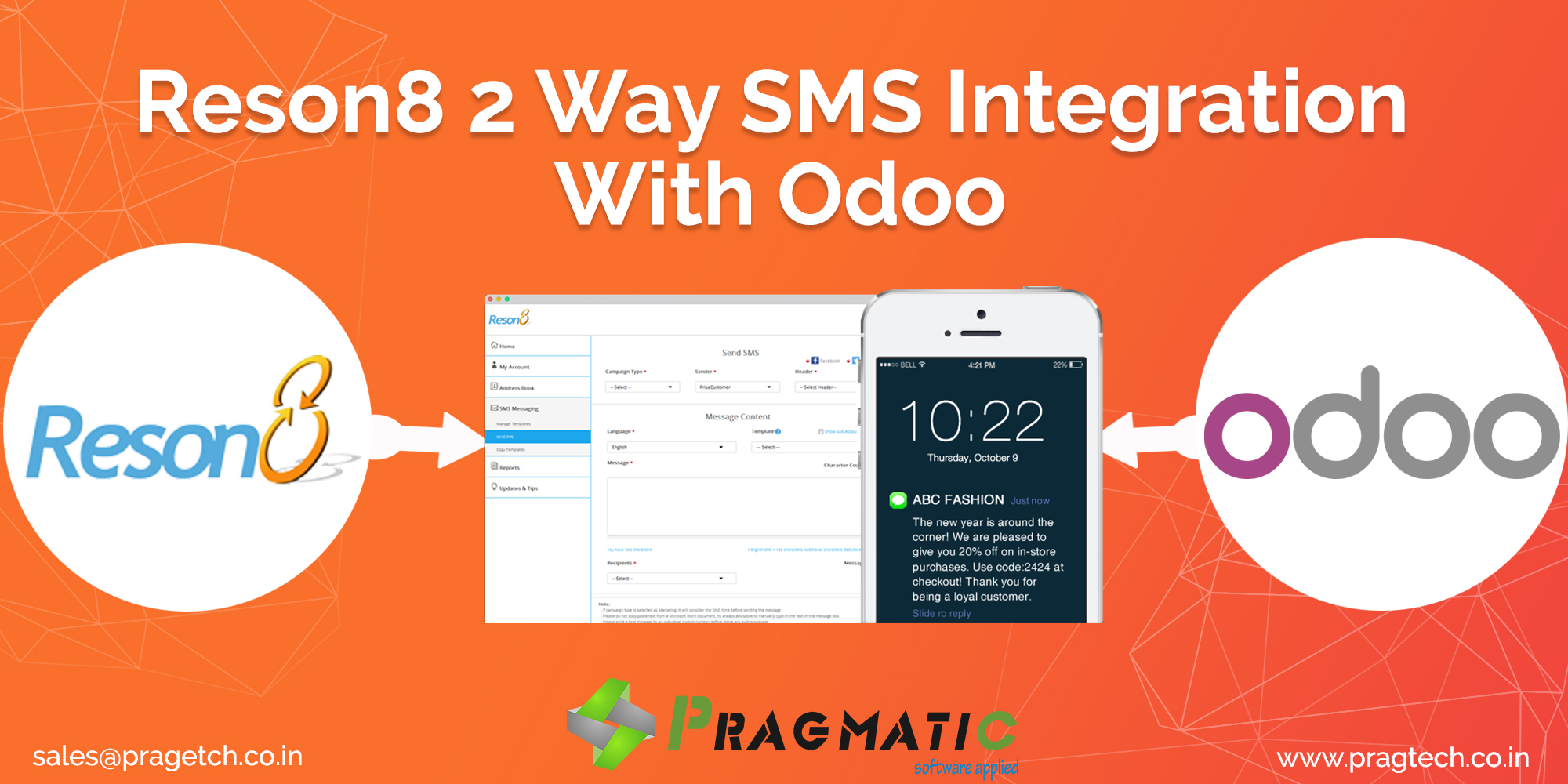 Reson8 2 Way SMS Integration With Odoo