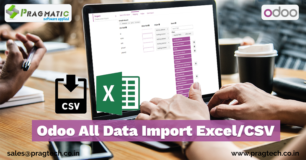 Odoo All Data Import Excel/CSV