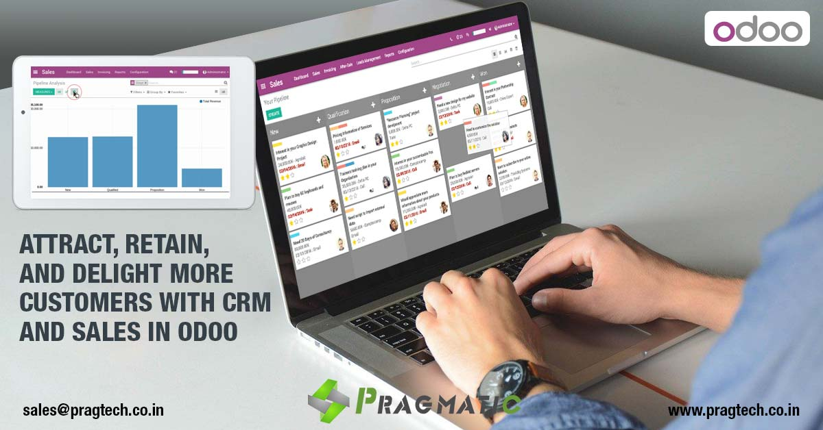 Attract, Retain, and Delight more customers with CRM and Sales in Odoo