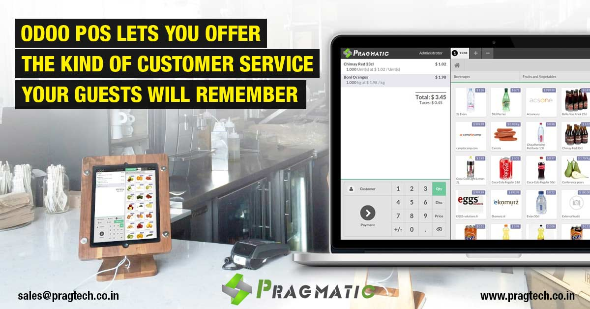 Odoo POS lets you offer the kind of Customer Service your Guests will Remember