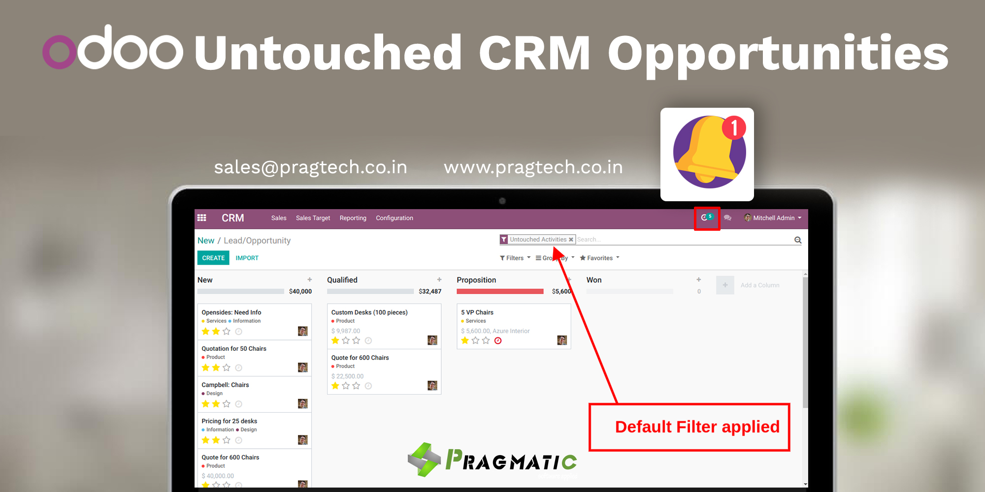 Odoo Untouched CRM Opportunities