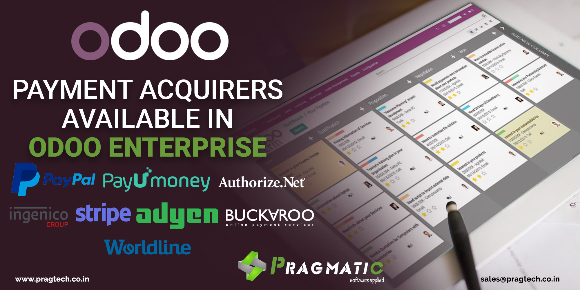 Payment Acquirers Available in Odoo Enterprise