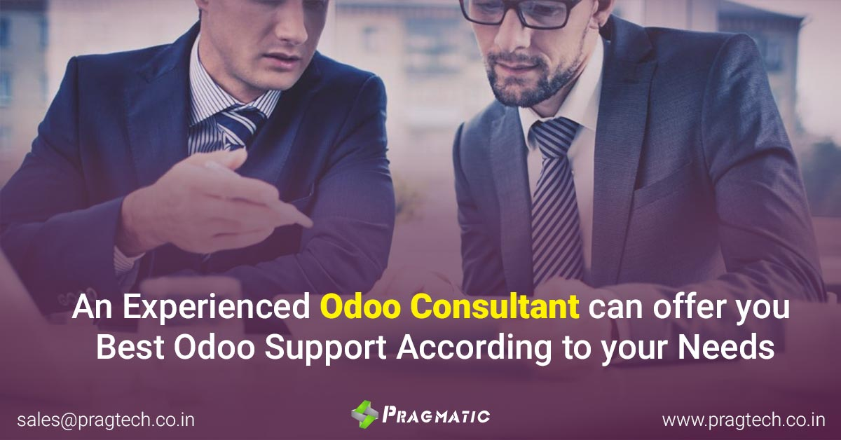 An Experienced Odoo Consultant can offer you Best Odoo Support According to your Needs