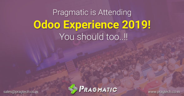 Pragmatic is Attending Odoo Experience 2019! You should too..!!