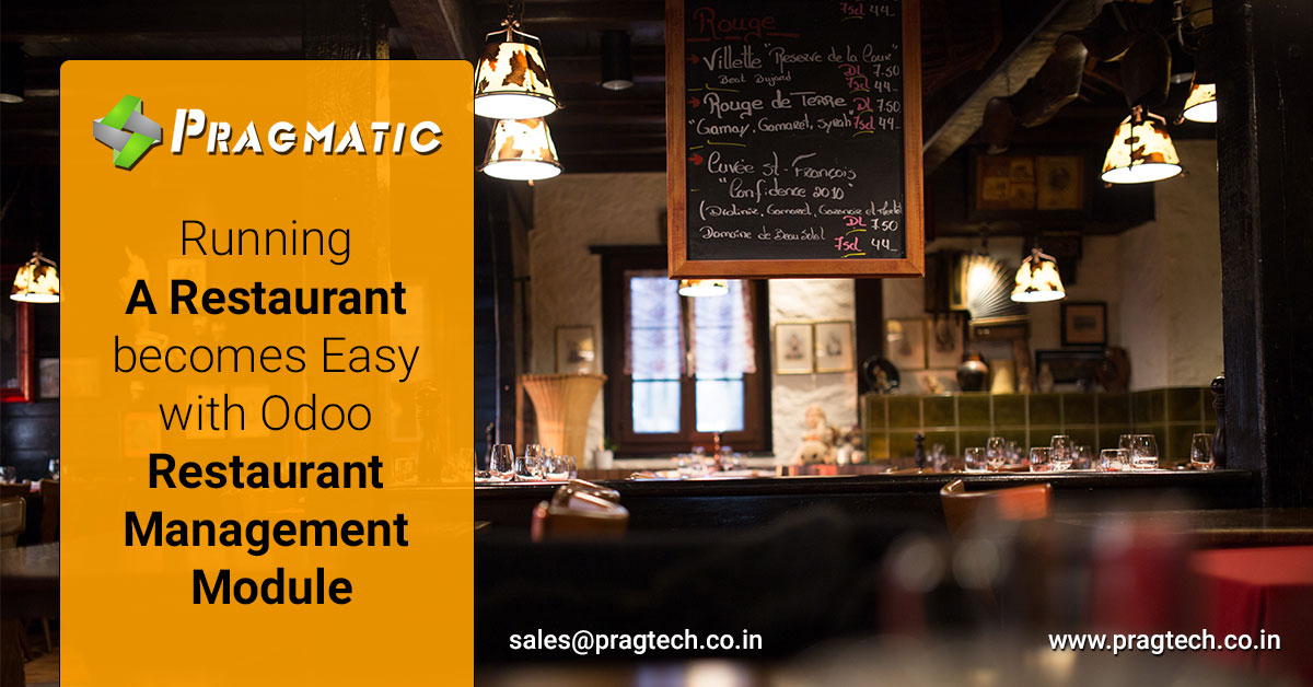 Running a Restaurant becomes Easy with Odoo Restaurant Management Module